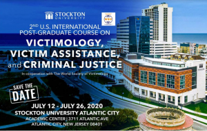 Victimology, Victim Assistance & Criminal Justice, USA – Stockton University, New Jersey – July 2020